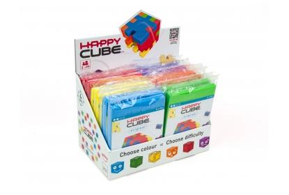 Display with 24 single Happy Cube© Original