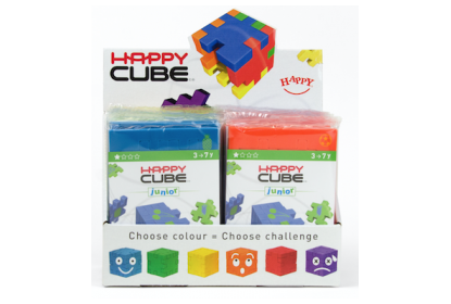Display with 24 x Happy Cube Junior puzzles
