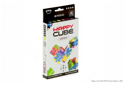 Happy Cube Expert 6-pack, 6 foam cube puzzles included, flat packed in their frame.