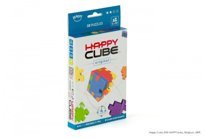 Happy Cube Original 6-pack, 6 foam cube puzzles included, flat packed.