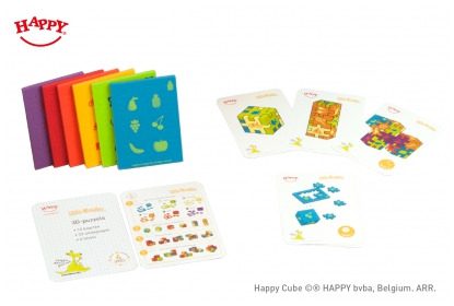 Little Genius 4 cm cubes, with 1 colour print, and challenge cards. Special for the Kanguru math competition.