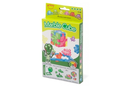 Marble Cube 6-pack, 6 foam cube puzzles included, flat packed in their frame.
