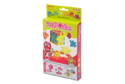Profi Cube puzzles 6-pack, 6 foam cube puzzles included, flat packed in their frame.