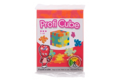 Profi Cube Single Pack - a flowpacked flat orange foam puzzle cube.