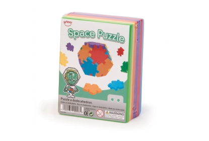 Space Puzzle pack with 6 coloured mats to build one 12-sided atmospheric puzzle.