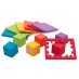 6 Smart Cube colors included in a 6-pack: make 2D puzzles and cube them.
