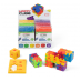 Display with 24 x Happy Cube Junior puzzles and constructions