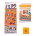 Little Genius Puzzle Single Pack with the back of the instruction card and a made orange puzzle cube (with vehicle symbols).