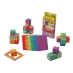 6 foam Profi Cube puzzles (flat and cubed) and some possible Profi Cube constructions.